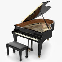 grand piano obj