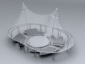 3d circus interior model