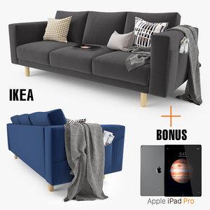 3d model ikea morsborg sofa seat