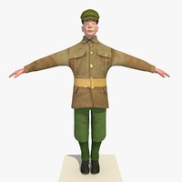3d model ww1 british soldier