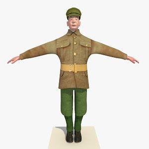3d model ww1 british soldier