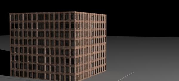 free simple building 3d model