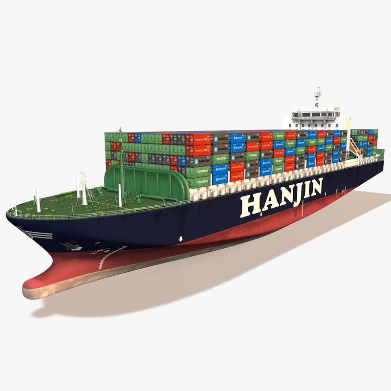 3d container-ship container ship
