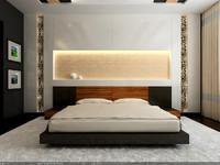 maya interior scene - bedroom