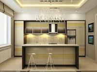 interior scene - kitchen 3d max