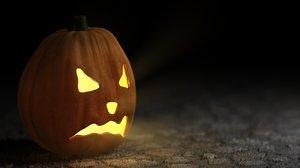 3dsmax halloween pumpkin