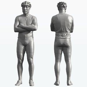 cyclist 3d model