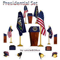 Presidential Set fbx and .obj
