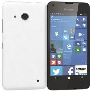 microsoft lumia 550 white 3d model