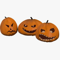 pumpkins jack-o-lantern 3d model