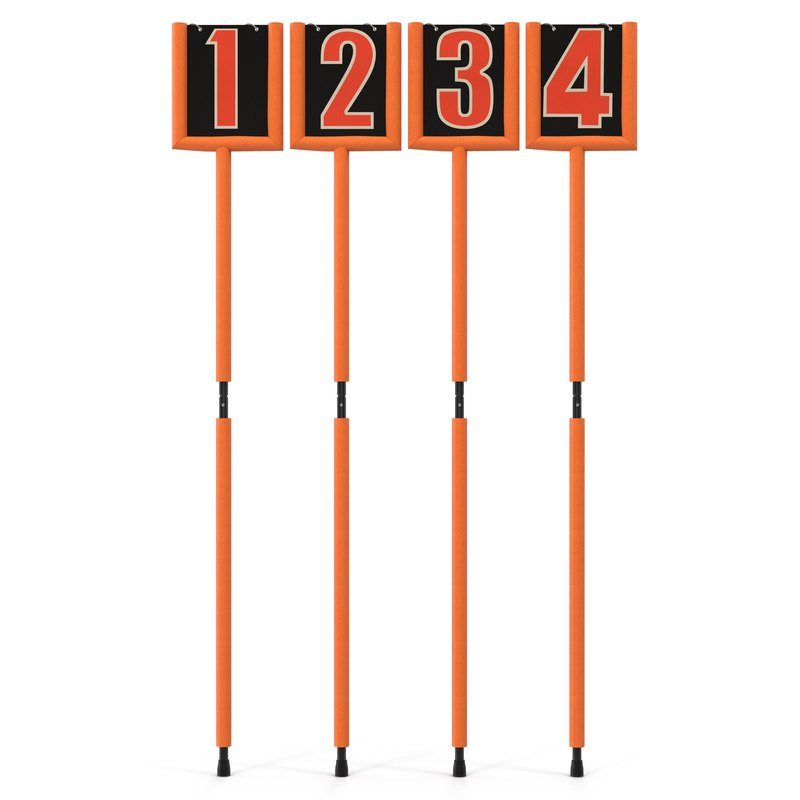 american football markers set 3d model