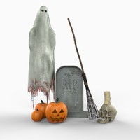 realistic halloween decorations 3d max