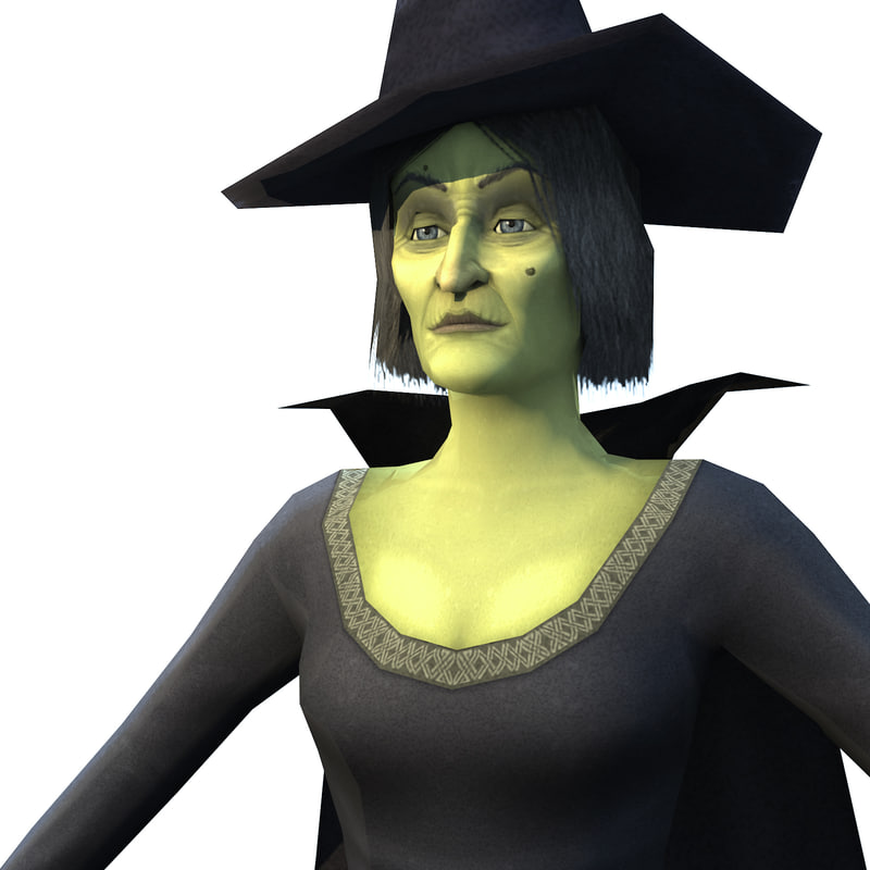 ready witch character 3d max