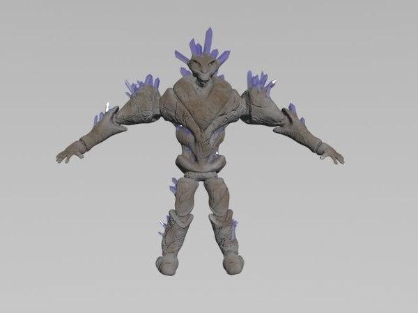 crystall holem 3d model