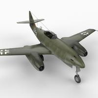 me-262 messerschmitt 262 schwalbe 3d model