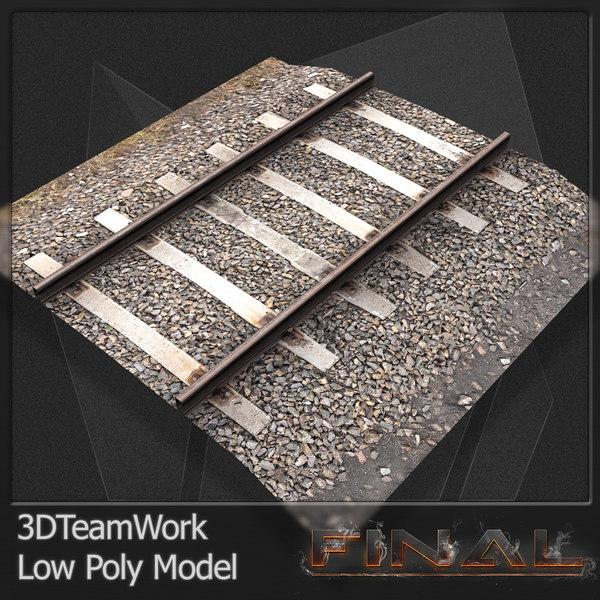 3dsmax final train rail v01