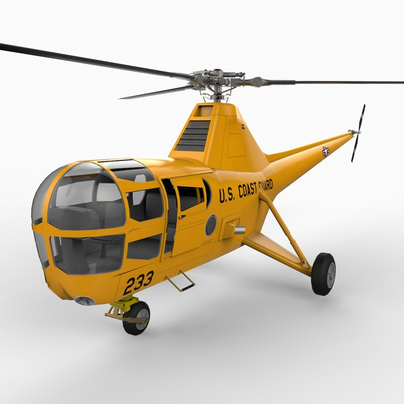 3d sikorsky h-5 s-51 helicopter