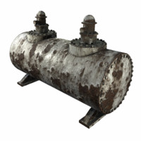 3d rusty industrial