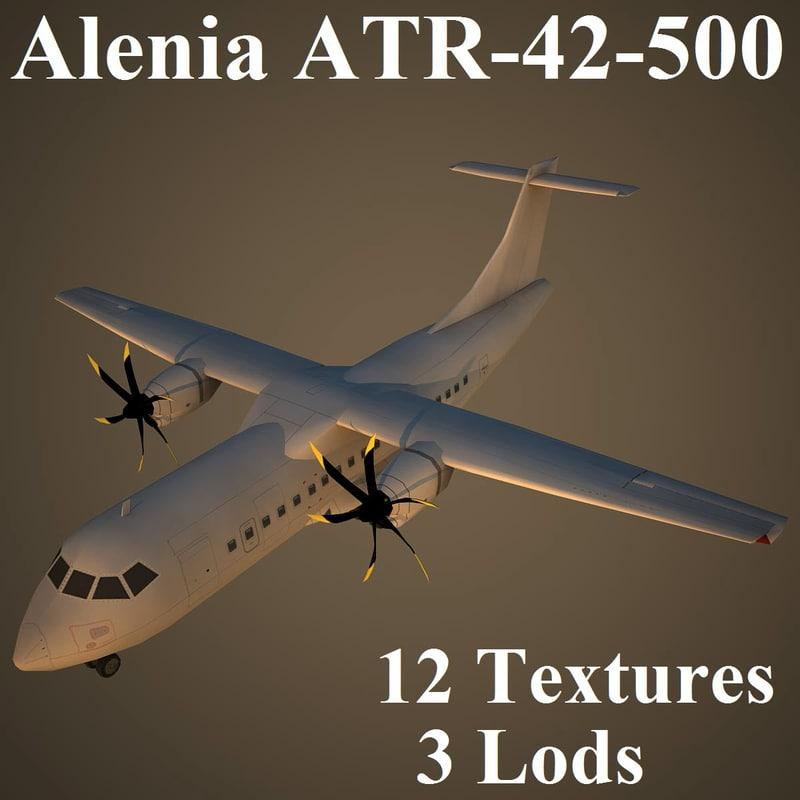 alenia air low-poly 3d max