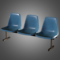 laundromat bench chairs 3d obj