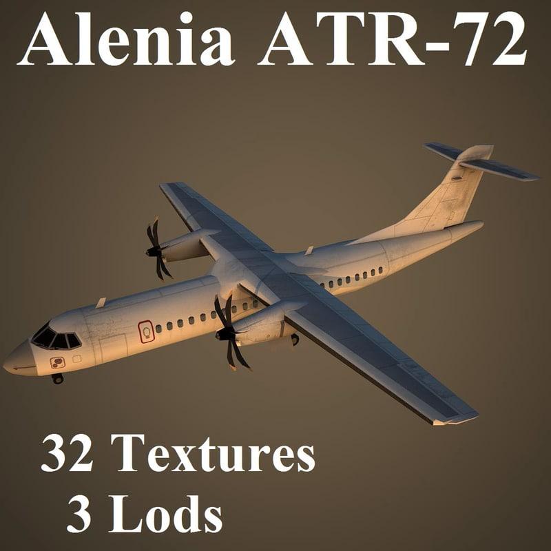 3d model alenia atr-72 airlines