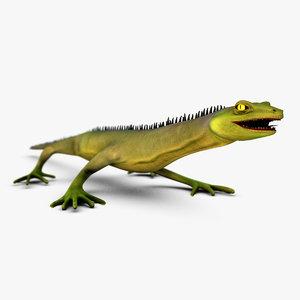 photorealistic lizard rigged 3d max