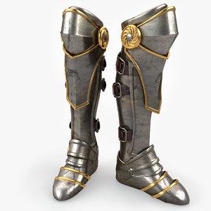 3d model armor boot v2