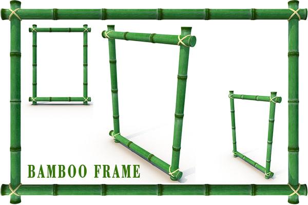 3d model bamboo frame