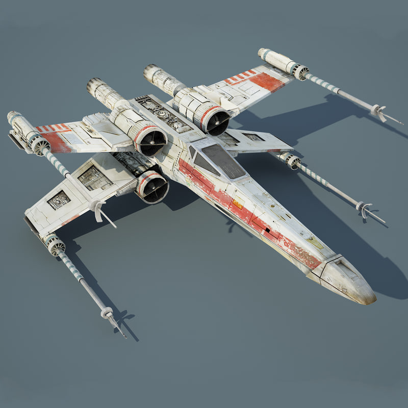 3ds max star wars x-wing starfighter