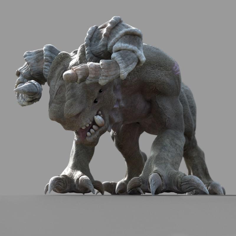 monster food stealer 3d model