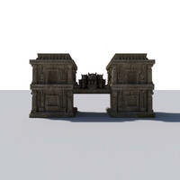 3d model fantastic iram pillars gate