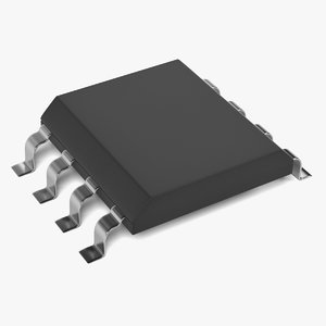 computer chip 3d 3ds