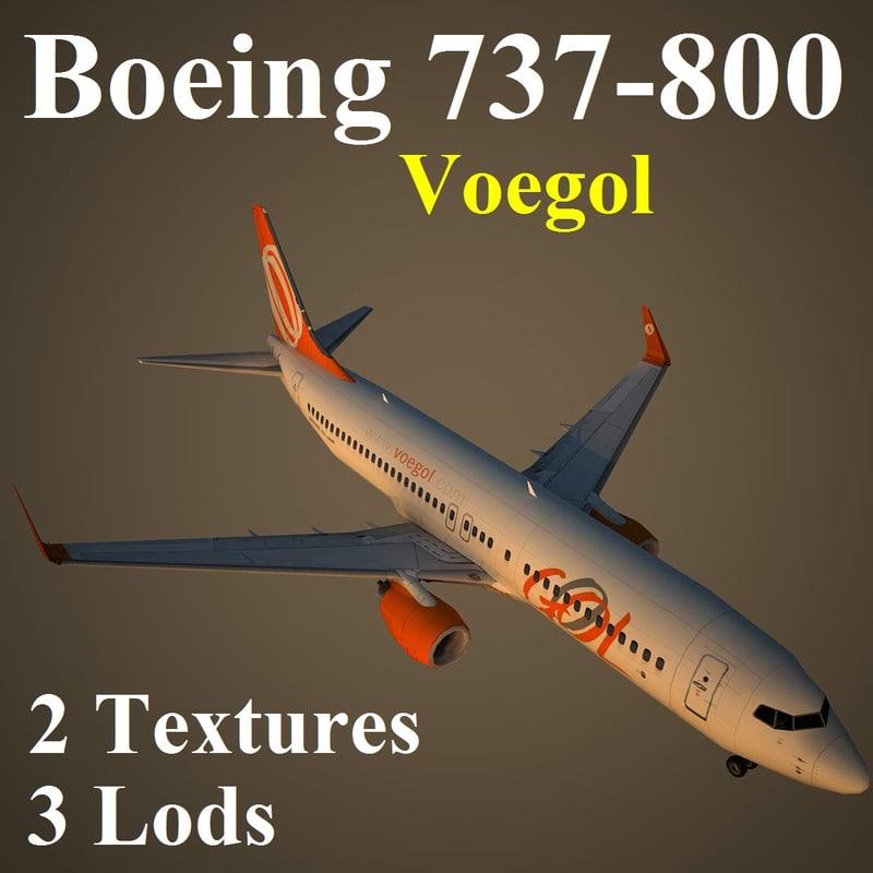 3d boeing 737-800 gol model