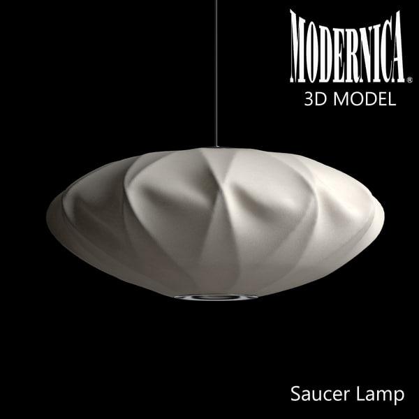 3d model modernica saucer crisscross lamp light