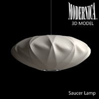 3d model modernica saucer crisscross lamp light