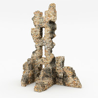 3d ruins tower