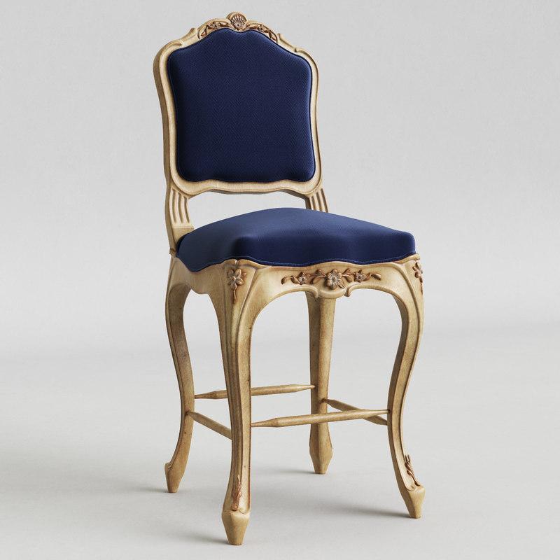 3d model bar chair salda 8657