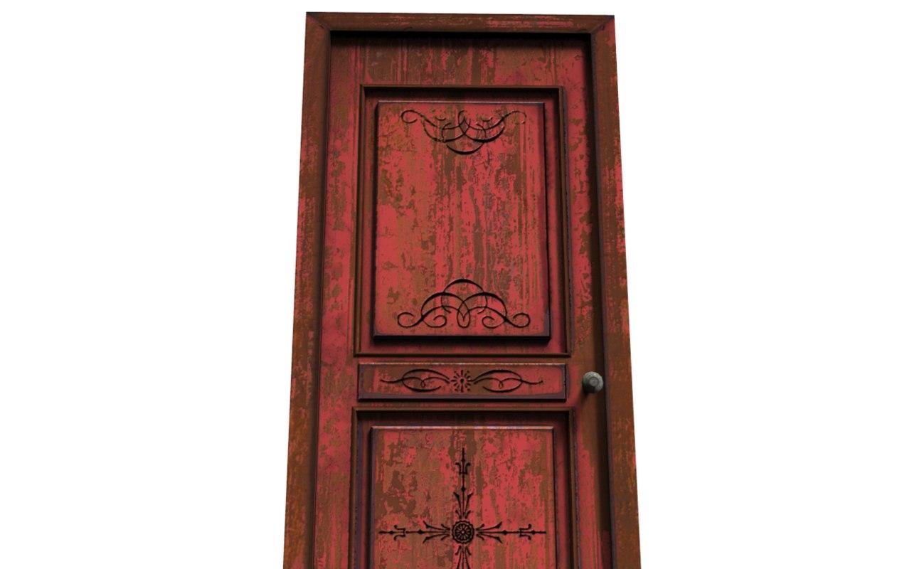 3d model red door