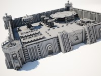 military supply base 3d model