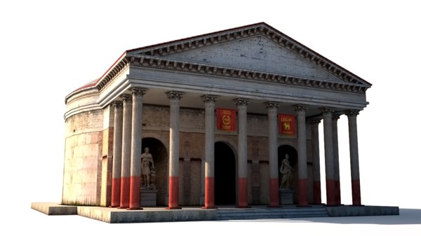 3d ancient rome building model
