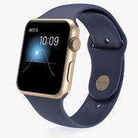 3d model 42mm gold aluminum case