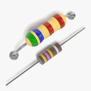 resistors 3d model