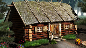 country cottage 3d lwo