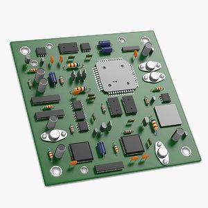 3d computer board model