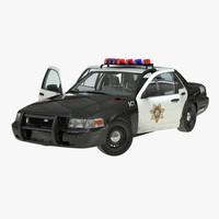 Ford Crown Victoria Police Car Rigged