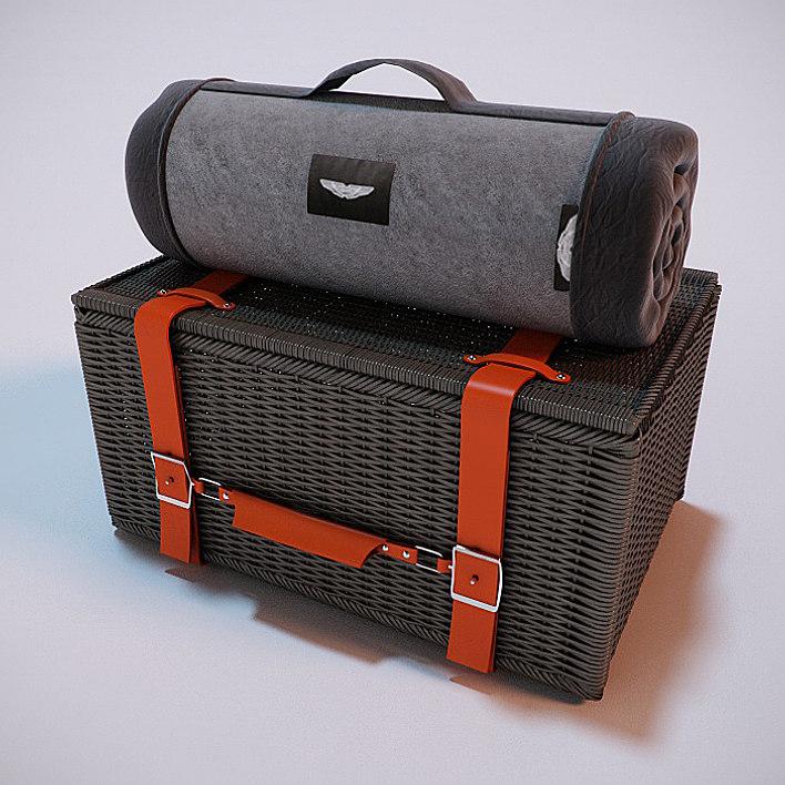 3d outdoor picnic hamper model