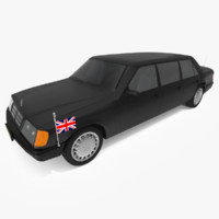 limousine limo luxury 3d model