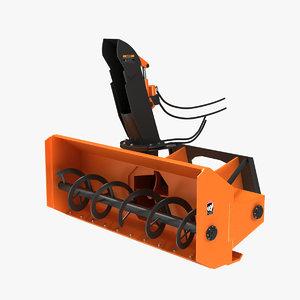 snow blower attachment 3d model