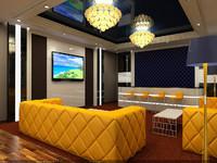 interior reception scene - 3d max