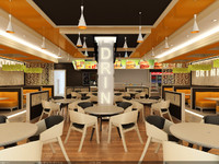 Interior Scene - Project 08 - cafe, fast food